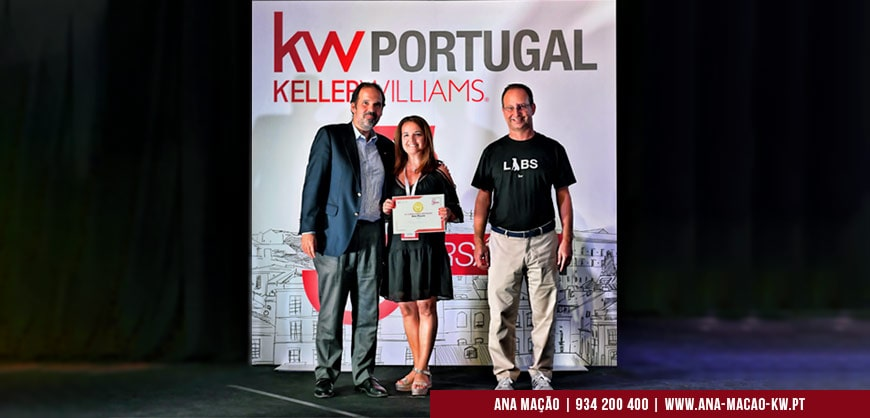 1st Prize among all consultants - in the individual category - of KW Portugal in 2019