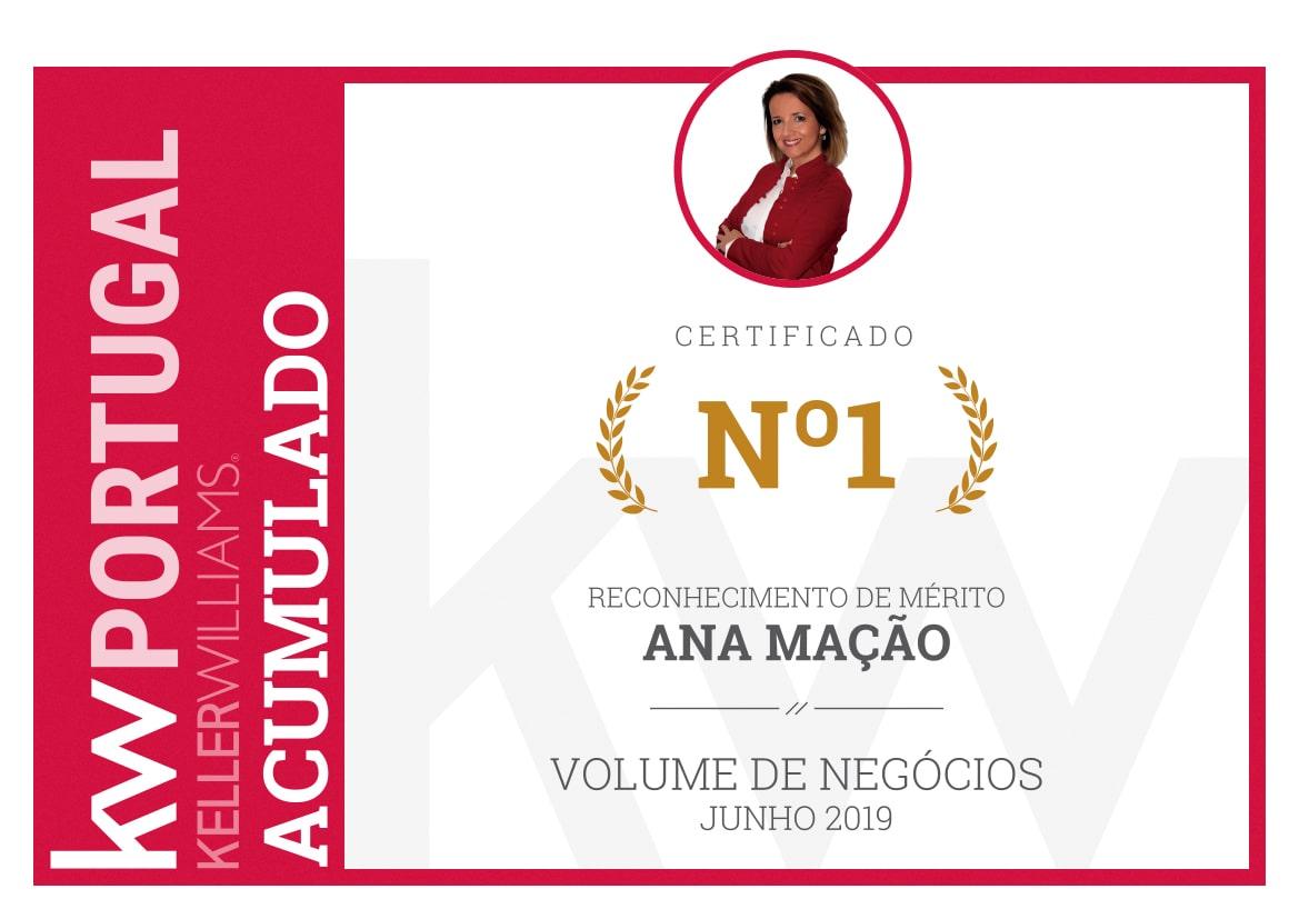 1º Lugar - Top Nacional KW Portugal - Junho 2019