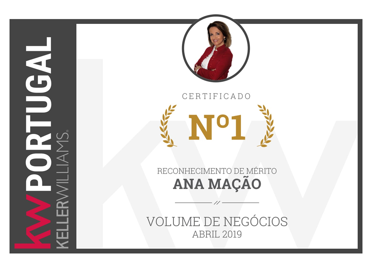1º Lugar - Top Nacional KW Portugal - Abril 2019