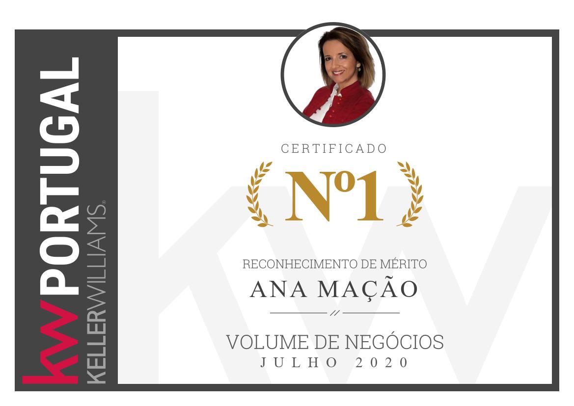 1º Lugar - Top Nacional KW Portugal - Julho 2020