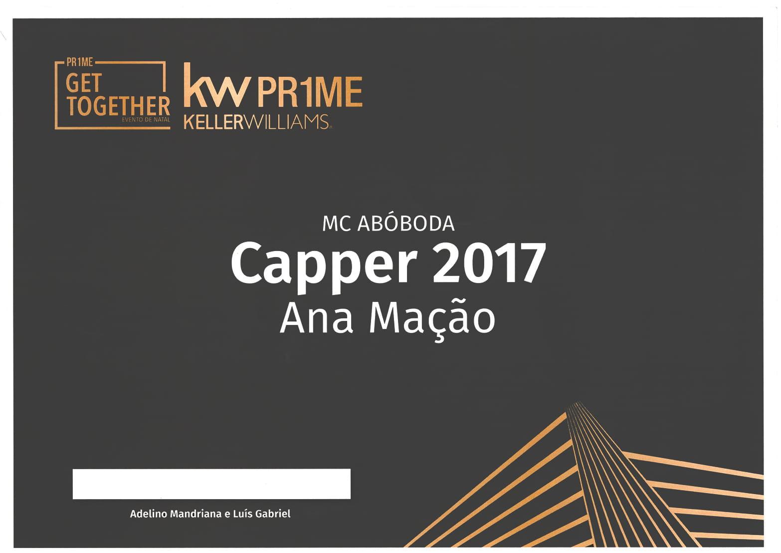 Club Capper - Year 2017