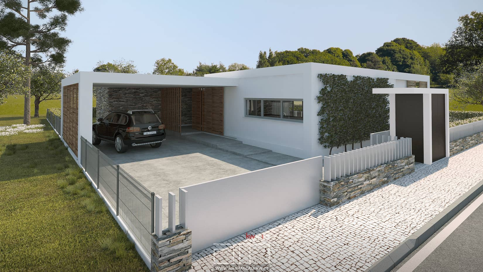 Quinta do cerrado moradia unifamiliar t4 em carnaxide for Casa moderna kw