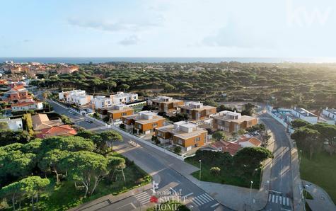 Vue du village urbain de Bicuda et de la mer