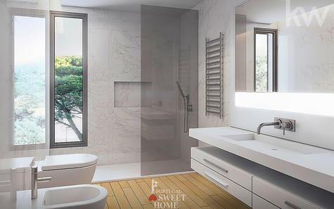 WC avec lumière naturelle