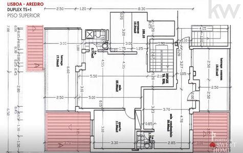 Duplex upper floor plan