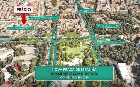"""Plan de la """"nouvelle Praça de Espanha"""""""