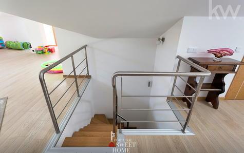 Escadaria de acesso ao sótão