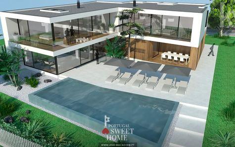 Photo 3D du projet avec piscine