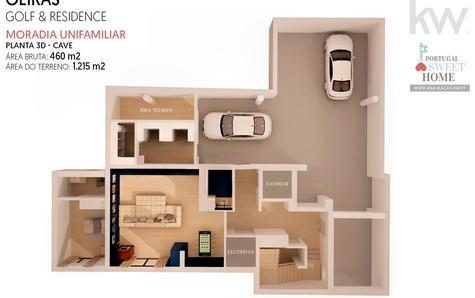 Plan 3D sous-sol / garage