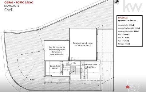 Plan of the basement (162m2)