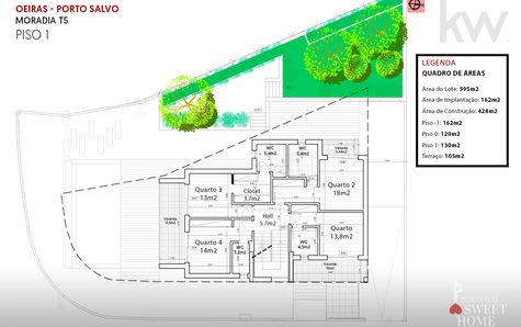 Plan of the 1st floor (130m2)