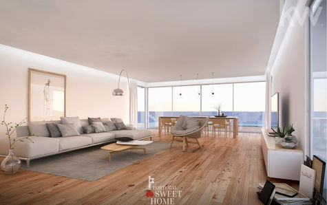 Large living room with sea view (51m2)