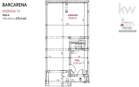 Plan d'étage du garage