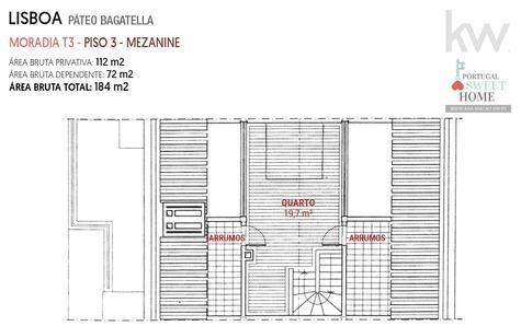 Plan d'étage 3 - Mezzanine