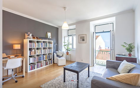 Large, bright living room